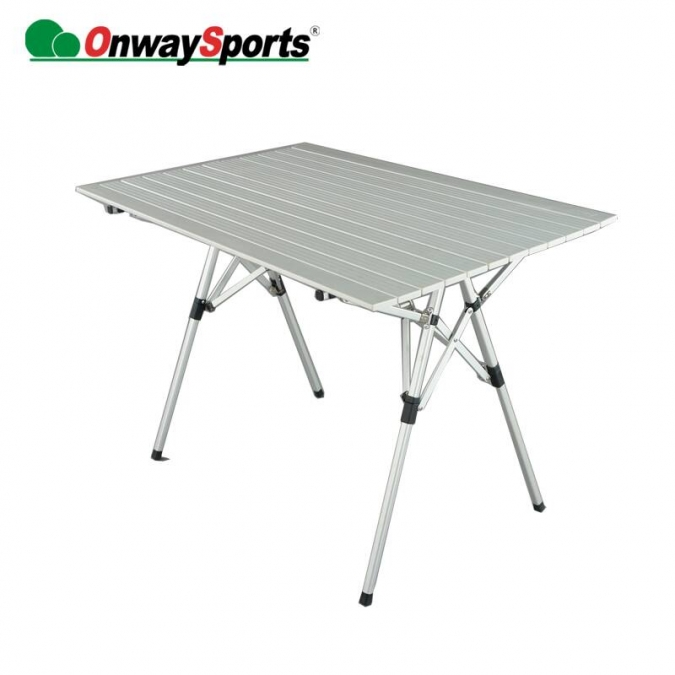 Table de camping pliante en aluminium ow-12 avec sac de transport