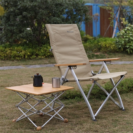 chaise de camp inclinable