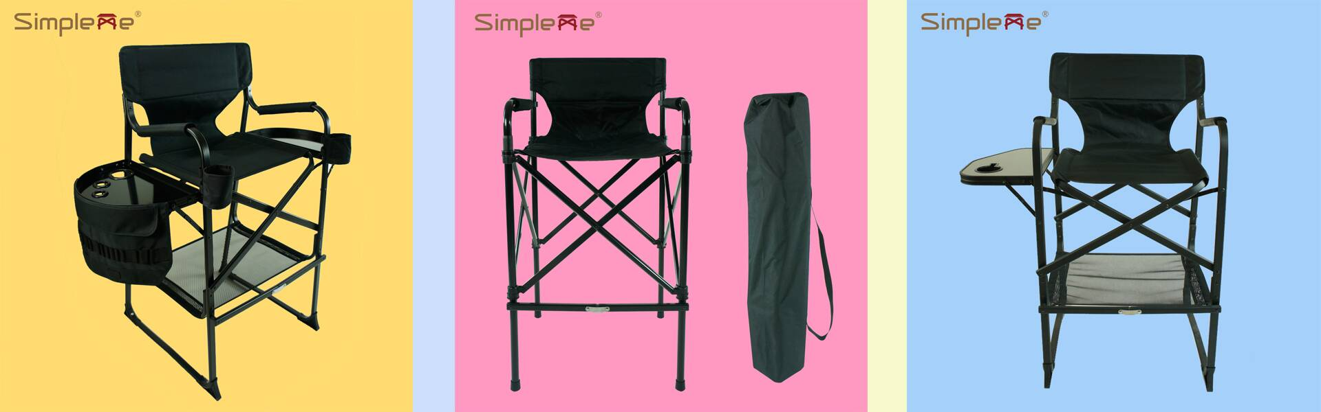 High Fashion New Design Folding Professional Makeup Artist Chair